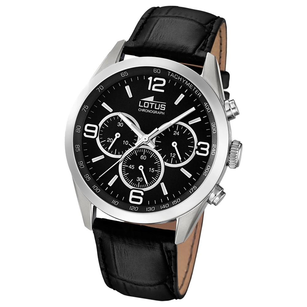 LOTUS Herren-Uhr - Minimalist - Analog - Quarz - Leder Klassik Uhr UL18155/2