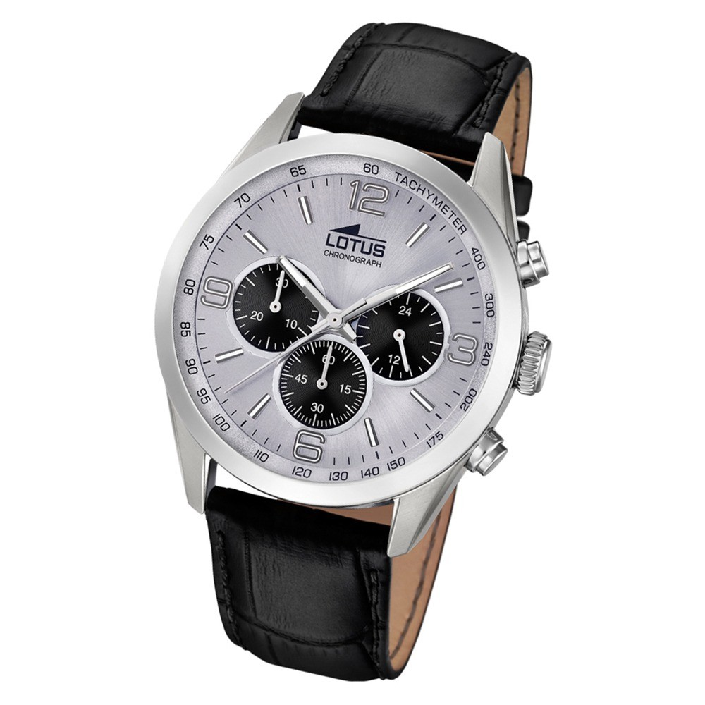 Lotus Herren-Armbanduhr Leder schwarz 18155/6 Quarz Minimalist UL18155/6