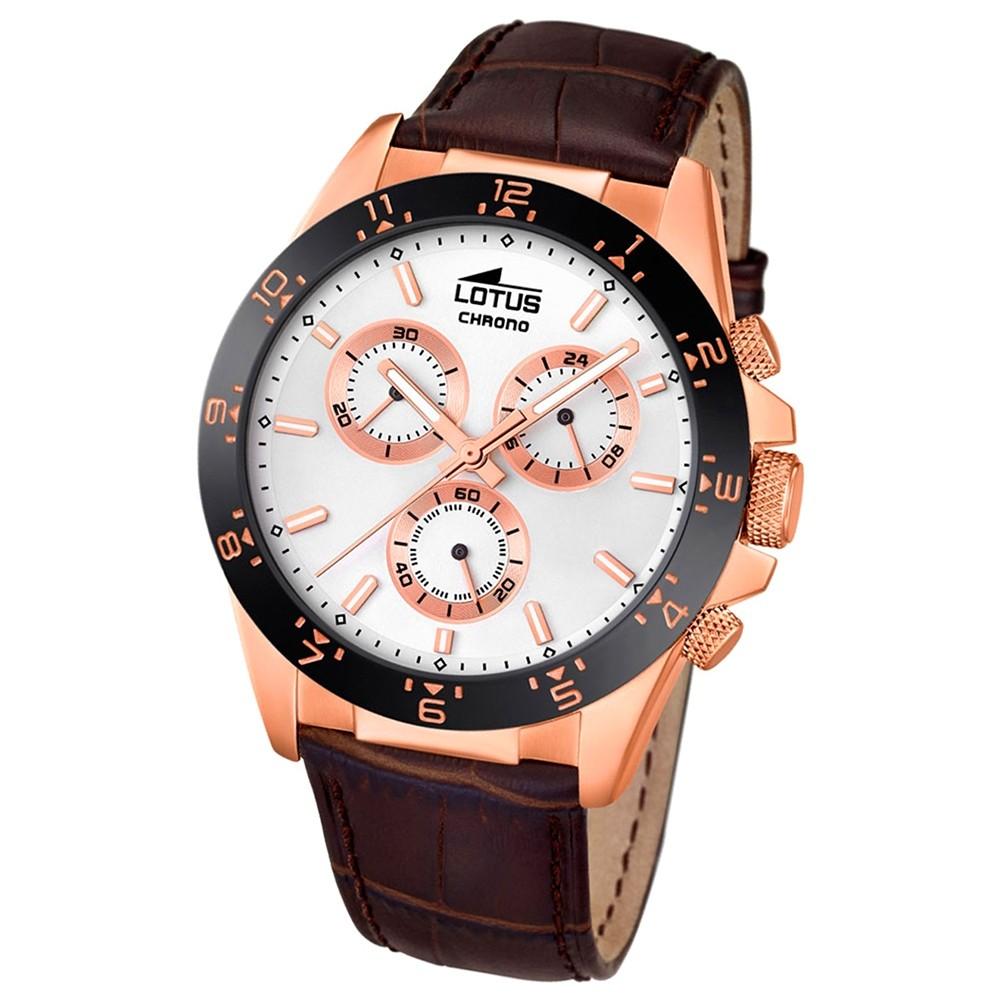 LOTUS Herren-Uhr - Minimalist - Analog - Quarz - Leder Klassik Uhr UL18158/1