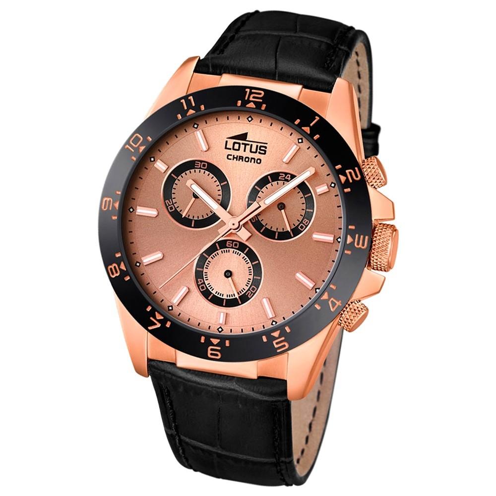 LOTUS Herren-Uhr - Minimalist - Analog - Quarz - Leder Klassik Uhr UL18158/2