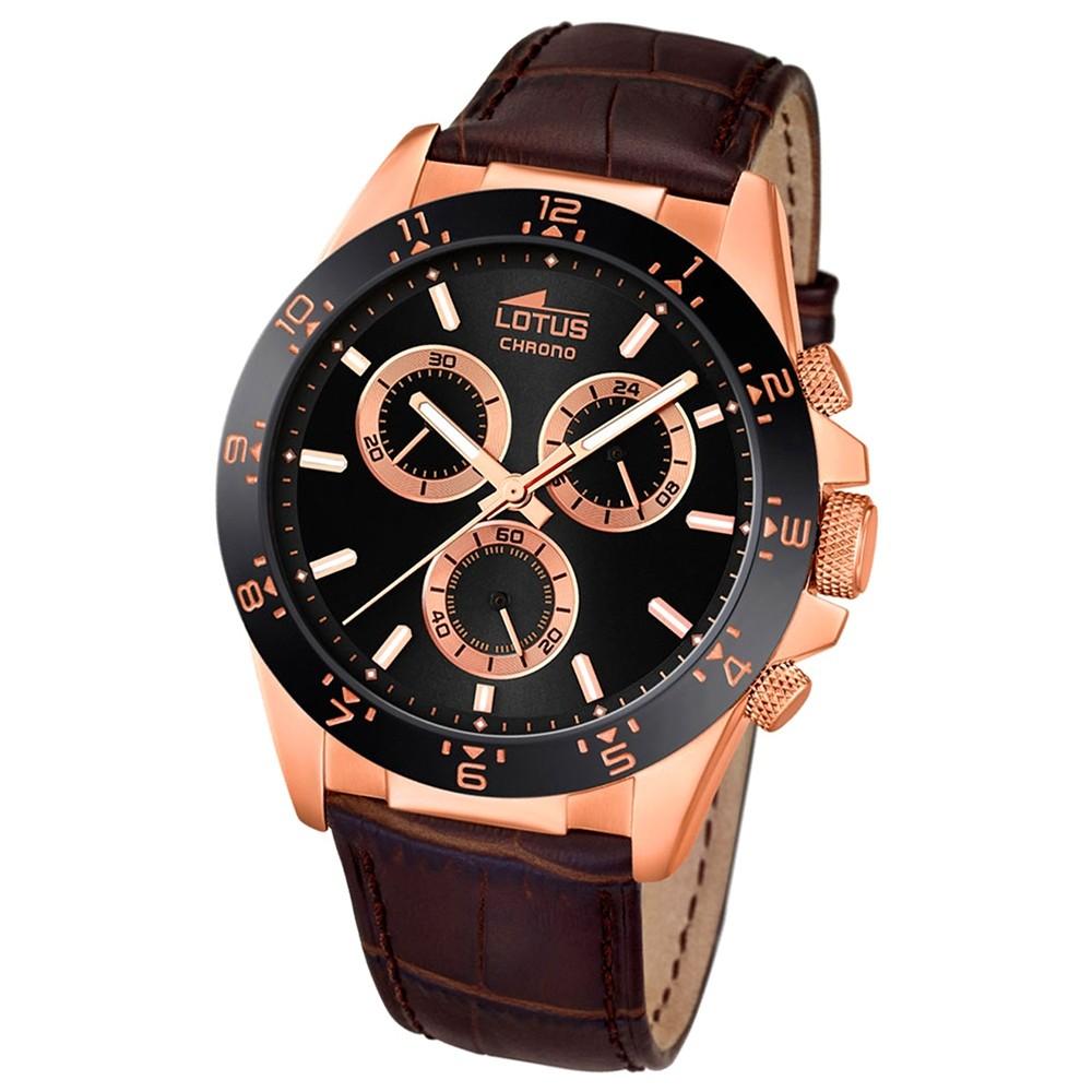 LOTUS Herren-Uhr - Minimalist - Analog - Quarz - Leder Klassik Uhr UL18158/4