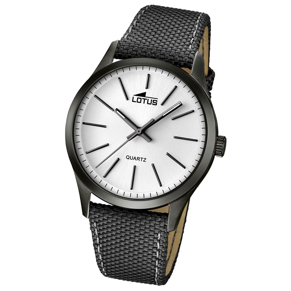 LOTUS Herren-Uhr - Minimalist - Analog - Quarz - Leder/Textil - UL18165/1