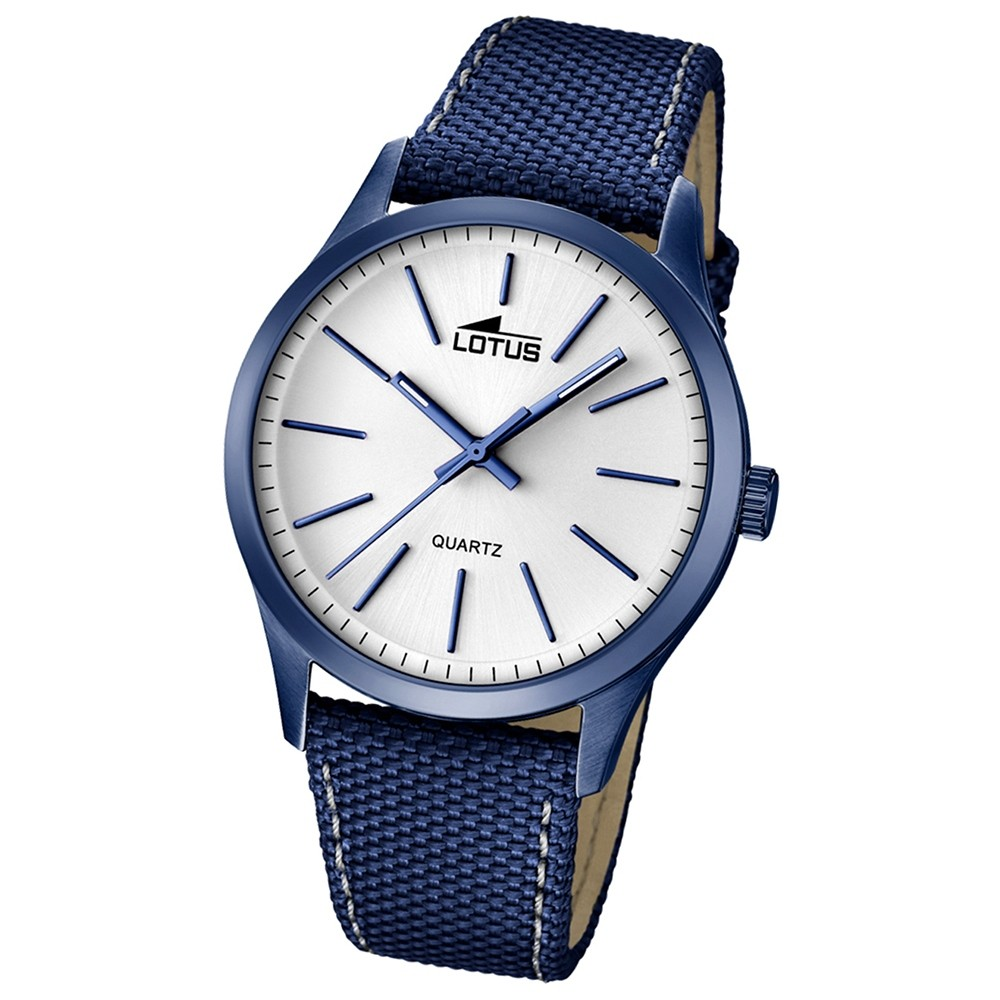 LOTUS Herren-Uhr - Minimalist - Analog - Quarz - Leder/Textil - UL18166/1