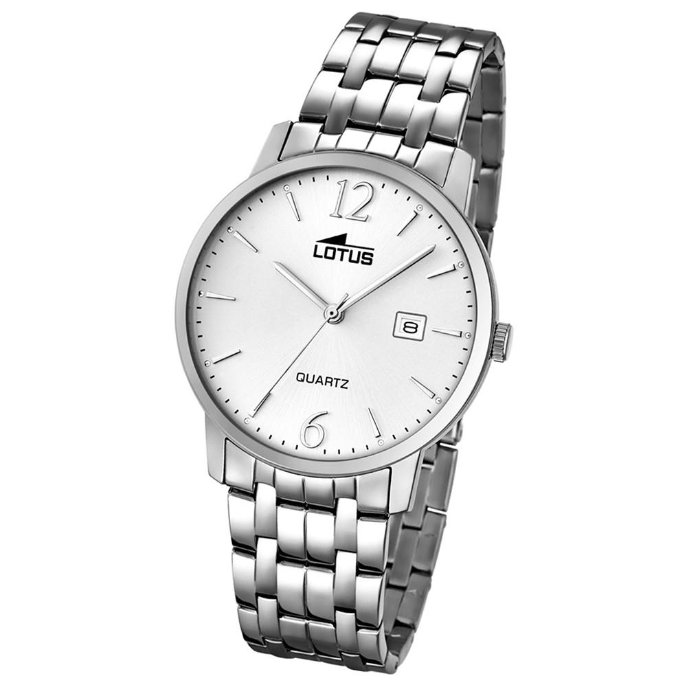 LOTUS Herren-Armbanduhr Analog Quarz Edelstahl silber UL18175/2