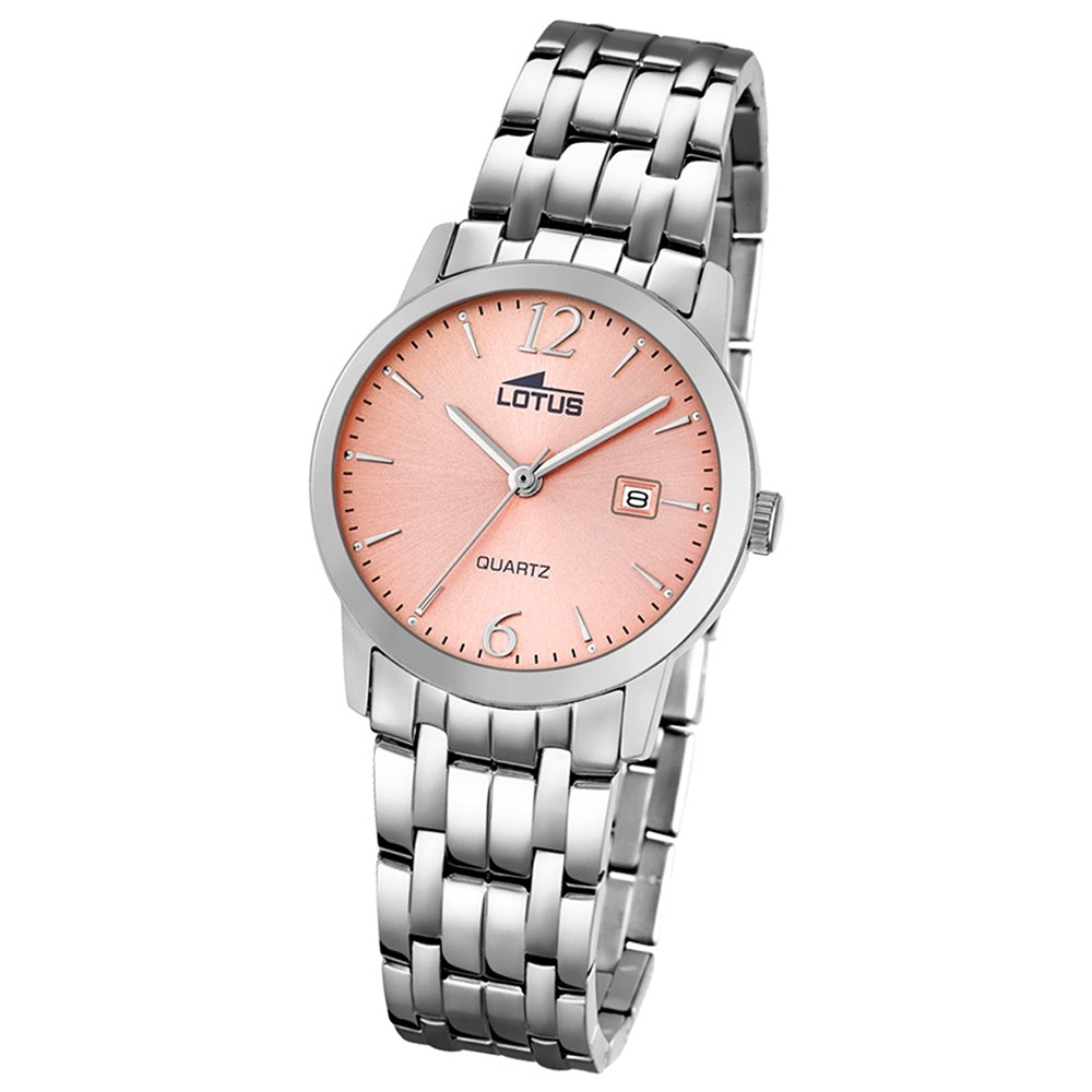 LOTUS Damen-Uhr - Stahlband klassisch - Analog - Quarz - Edelstahl - UL18179/2