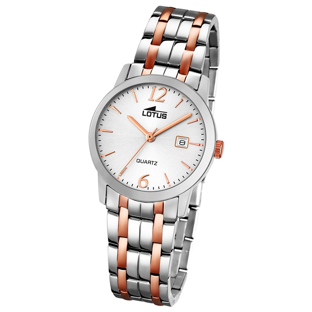 LOTUS Damen-Uhr - Stahlband klassisch - Analog - Quarz - Edelstahl - UL18180/2