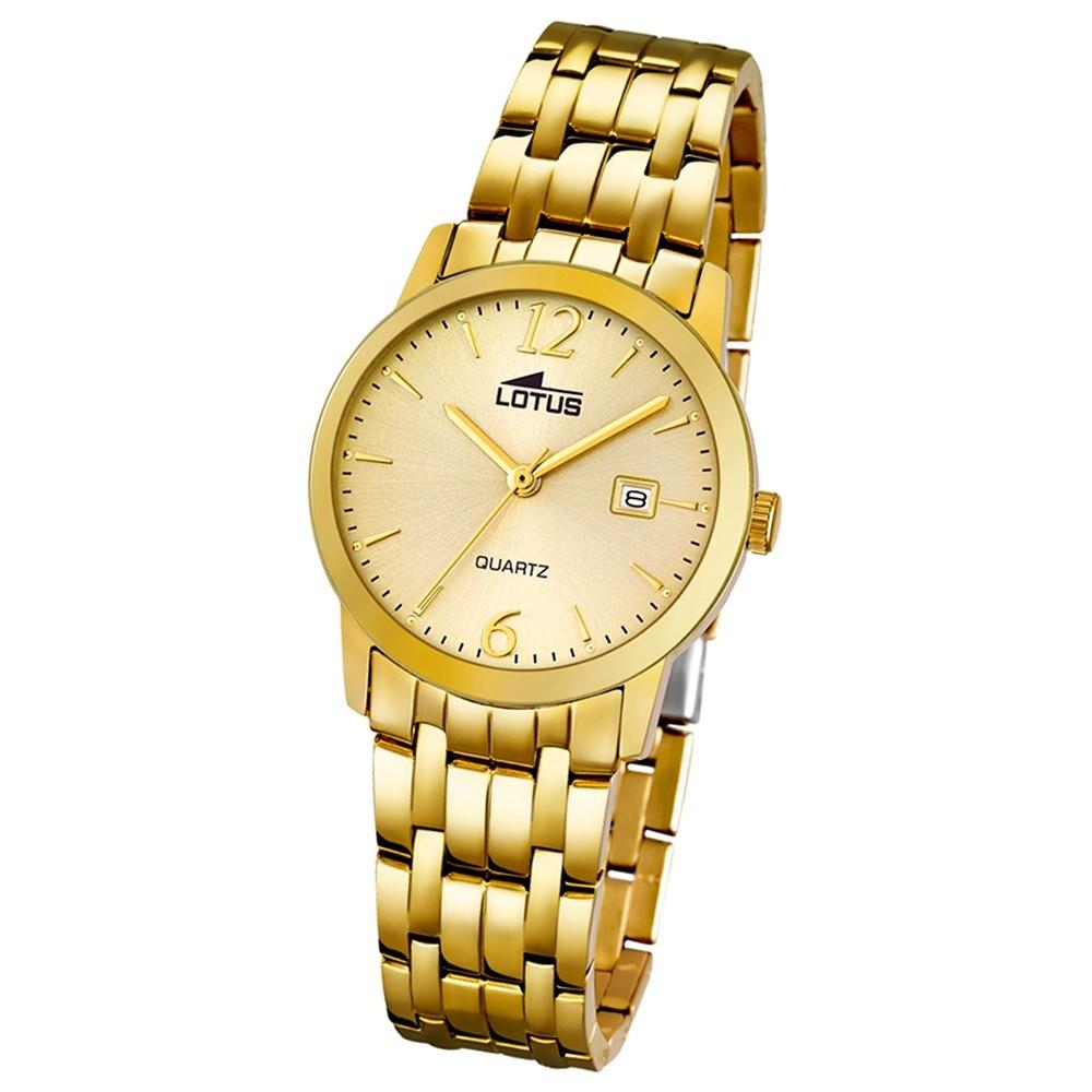 LOTUS Damen-Uhr - Stahlband klassisch - Analog - Quarz - Edelstahl - UL18181/1