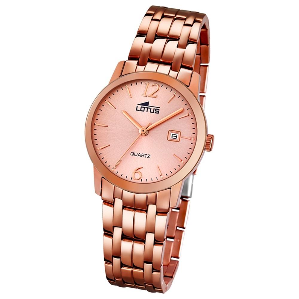 LOTUS Damen-Uhr - Stahlband klassisch - Analog - Quarz - Edelstahl - UL18182/1