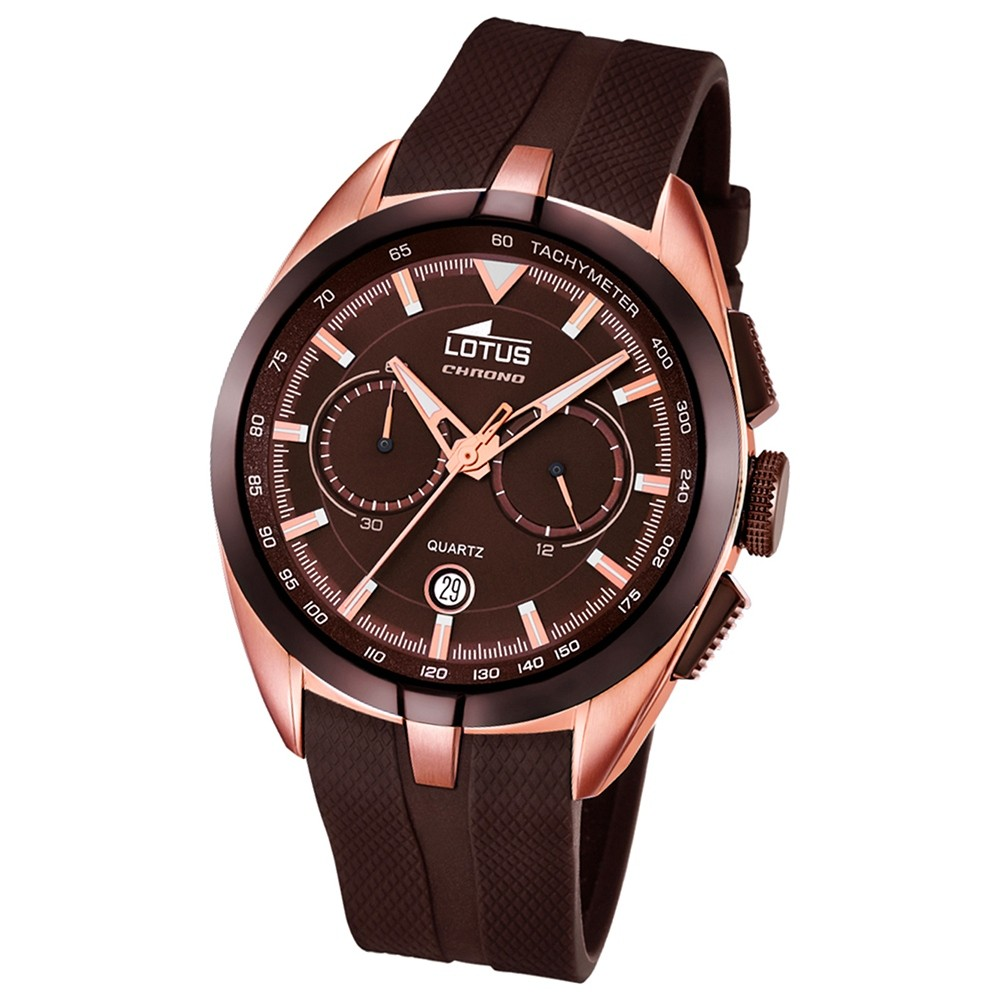 LOTUS Herren-Uhr - Smart Casual - Analog - Quarz - PU - UL18190/1