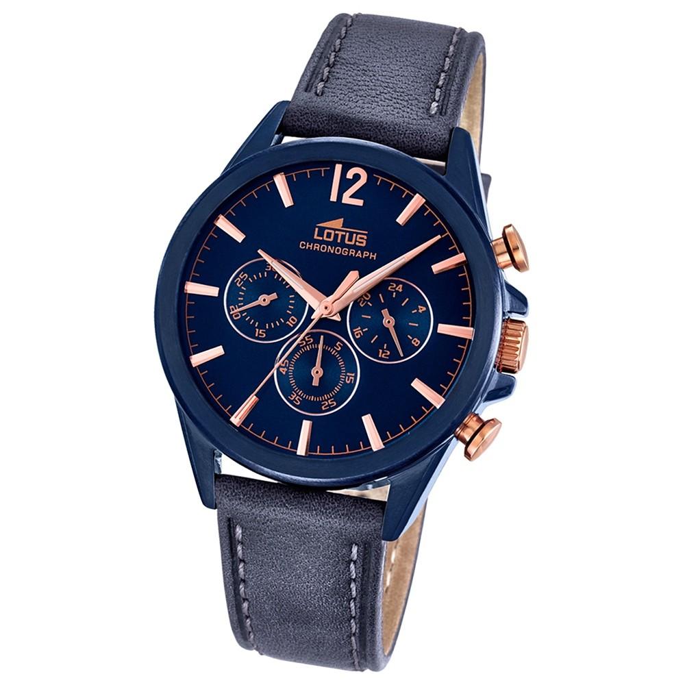 LOTUS Herren-Uhr - Smart Casual - Analog - Quarz - Leder - UL18201/1