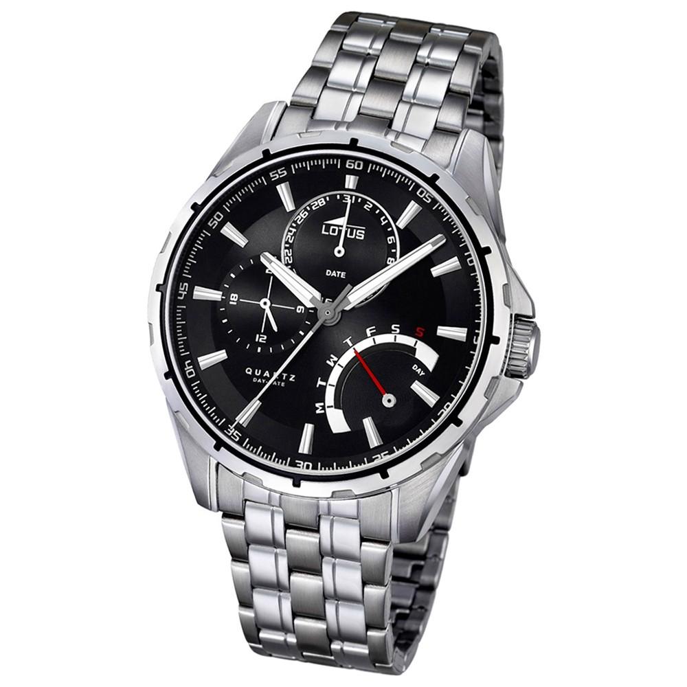 LOTUS Herren-Armbanduhr Smart Casual Analog Quarz-Uhr Edelstahl silber UL18203/2