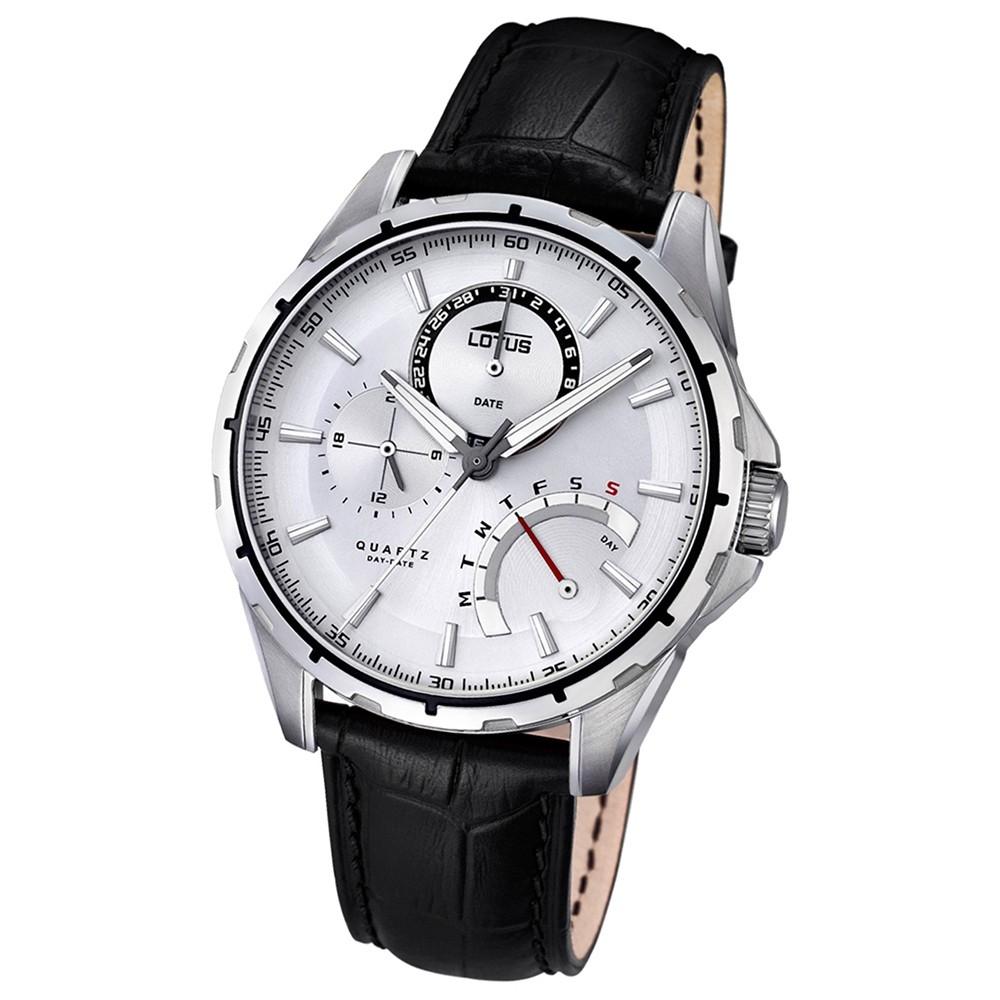 LOTUS Herren-Uhr - Smart Casual - Analog - Quarz - Leder - UL18208/1