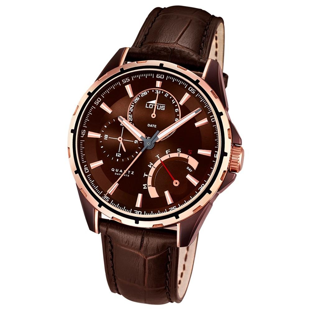 LOTUS Herren-Uhr - Smart Casual - Analog - Quarz - Leder - UL18211/1