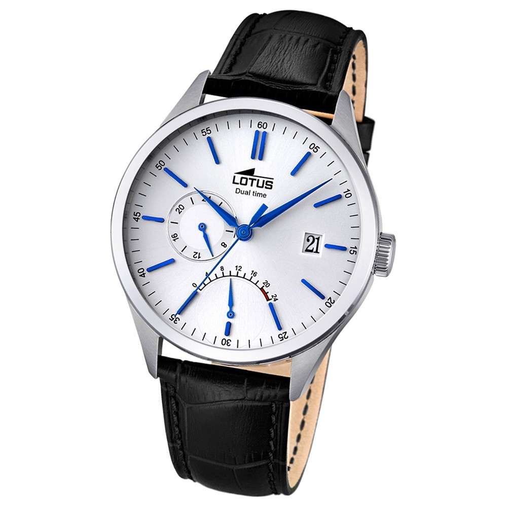 LOTUS Herren-Uhr - Multifunktion - Analog - Quarz - Leder - UL18214/1
