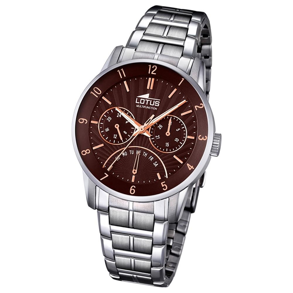 LOTUS Herren-Armbanduhr Analog Quarz Edelstahl silber UL18215/3