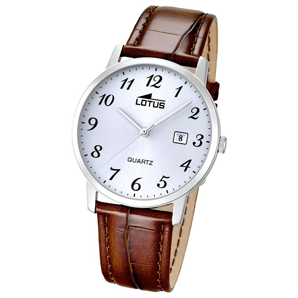 LOTUS Herren-Uhr - Lederband klassisch - Analog - Quarz - Leder - UL18239/2