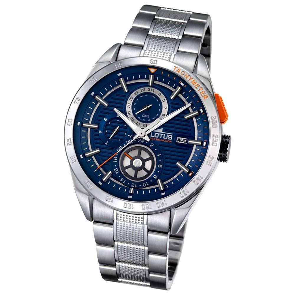 LOTUS Herren-Armbanduhr Smart Casual Analog Quarz-Uhr Edelstahl silber UL18244/2