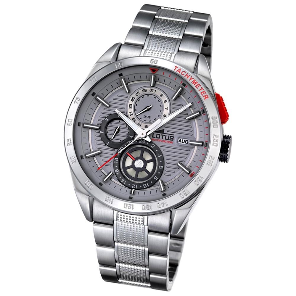 LOTUS Herren-Armbanduhr Smart Casual Analog Quarz-Uhr Edelstahl silber UL18244/3
