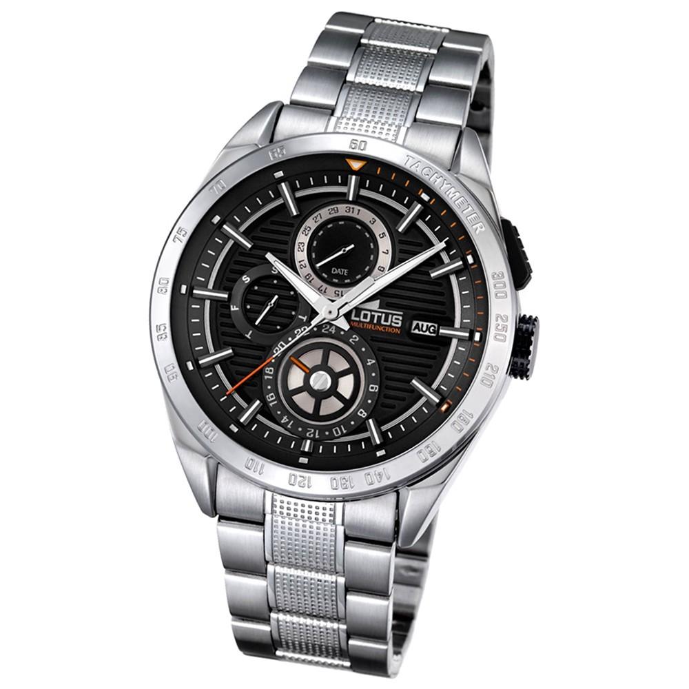 LOTUS Herren-Armbanduhr Smart Casual Analog Quarz-Uhr Edelstahl silber UL18244/4
