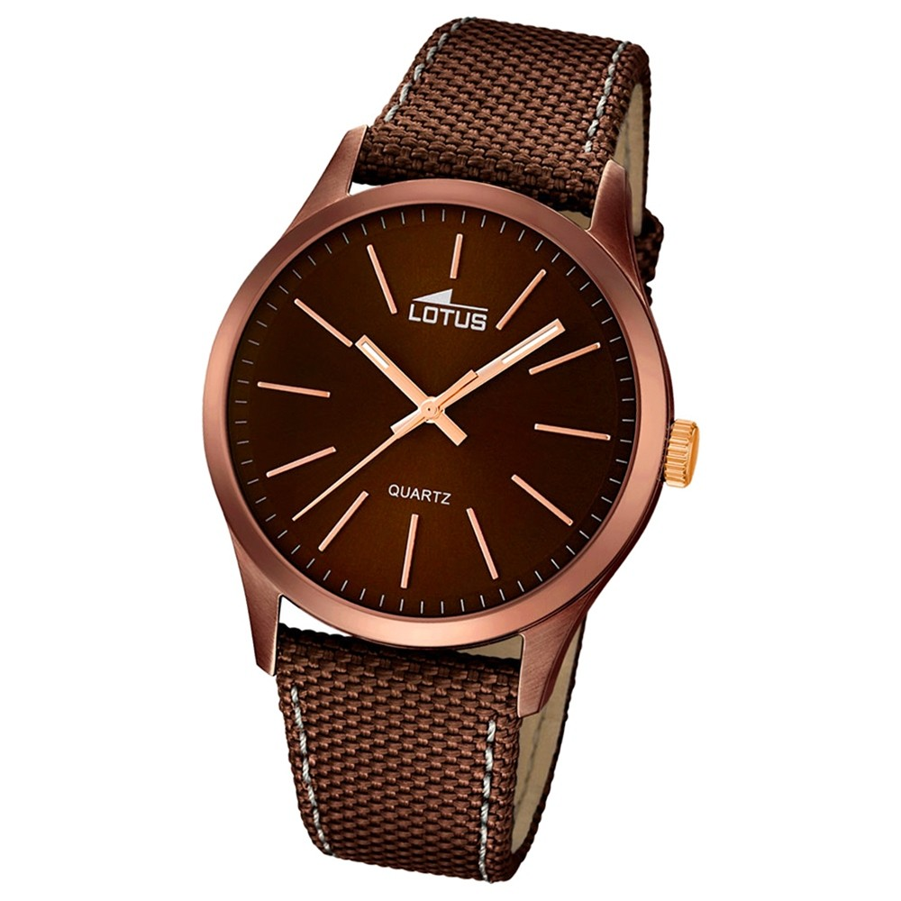 LOTUS Herren-Armbanduhr Smart Casual Analog Quarz-Uhr braun UL18246/2