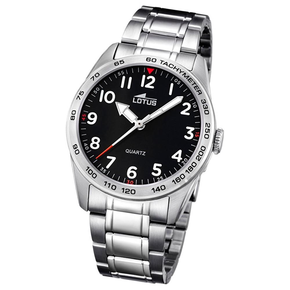 LOTUS Jugend-Armbanduhr Junior Analog Quarz-Uhr Edelstahl silber UL18275/3