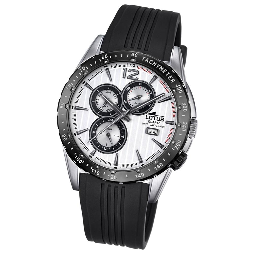LOTUS Herren-Armbanduhr Analog Quarz PU schwarz UL18310/1