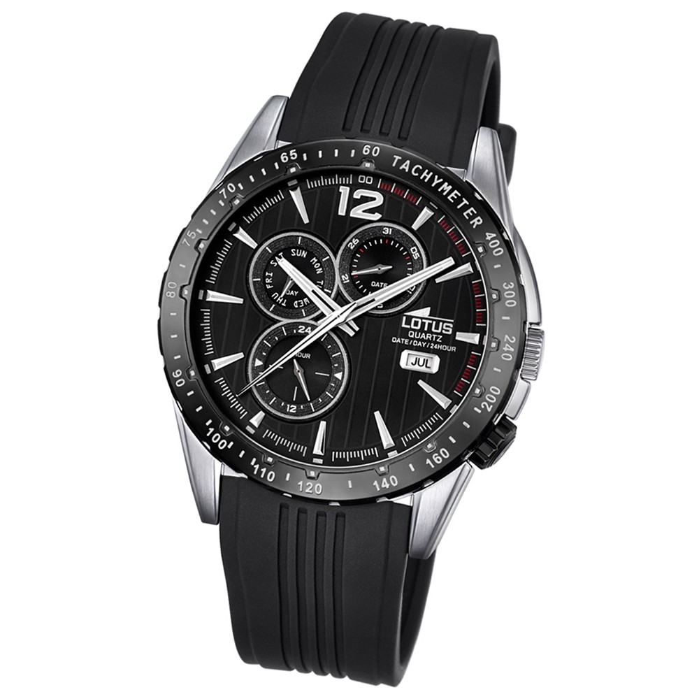 LOTUS Herren-Armbanduhr Analog Quarz PU schwarz UL18310/5