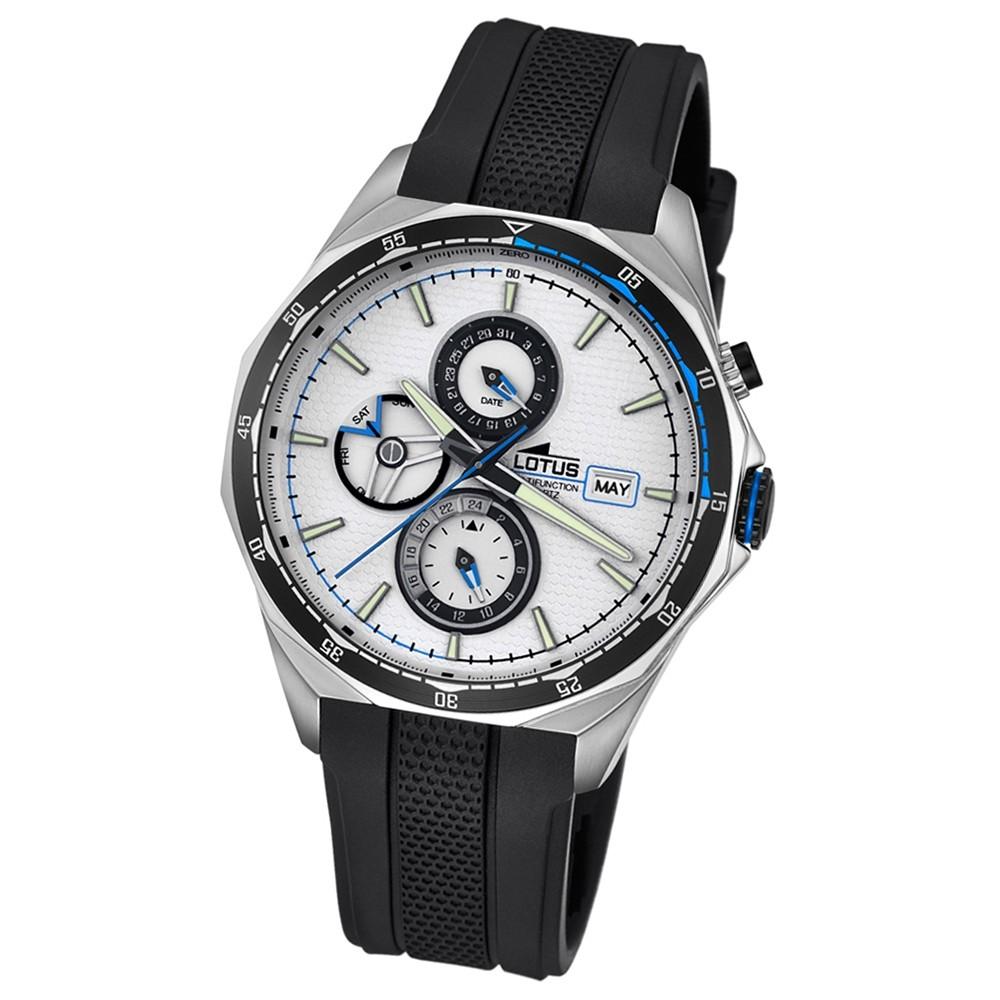 LOTUS Herren-Armbanduhr Sport Analog Quarz-Uhr PU schwarz UL18321/1