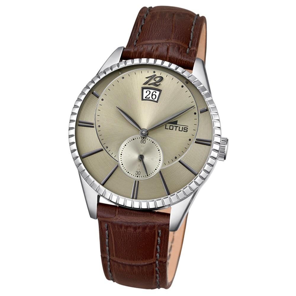 LOTUS Herren-Armbanduhr Analog Quarz Leder braun UL18322/2