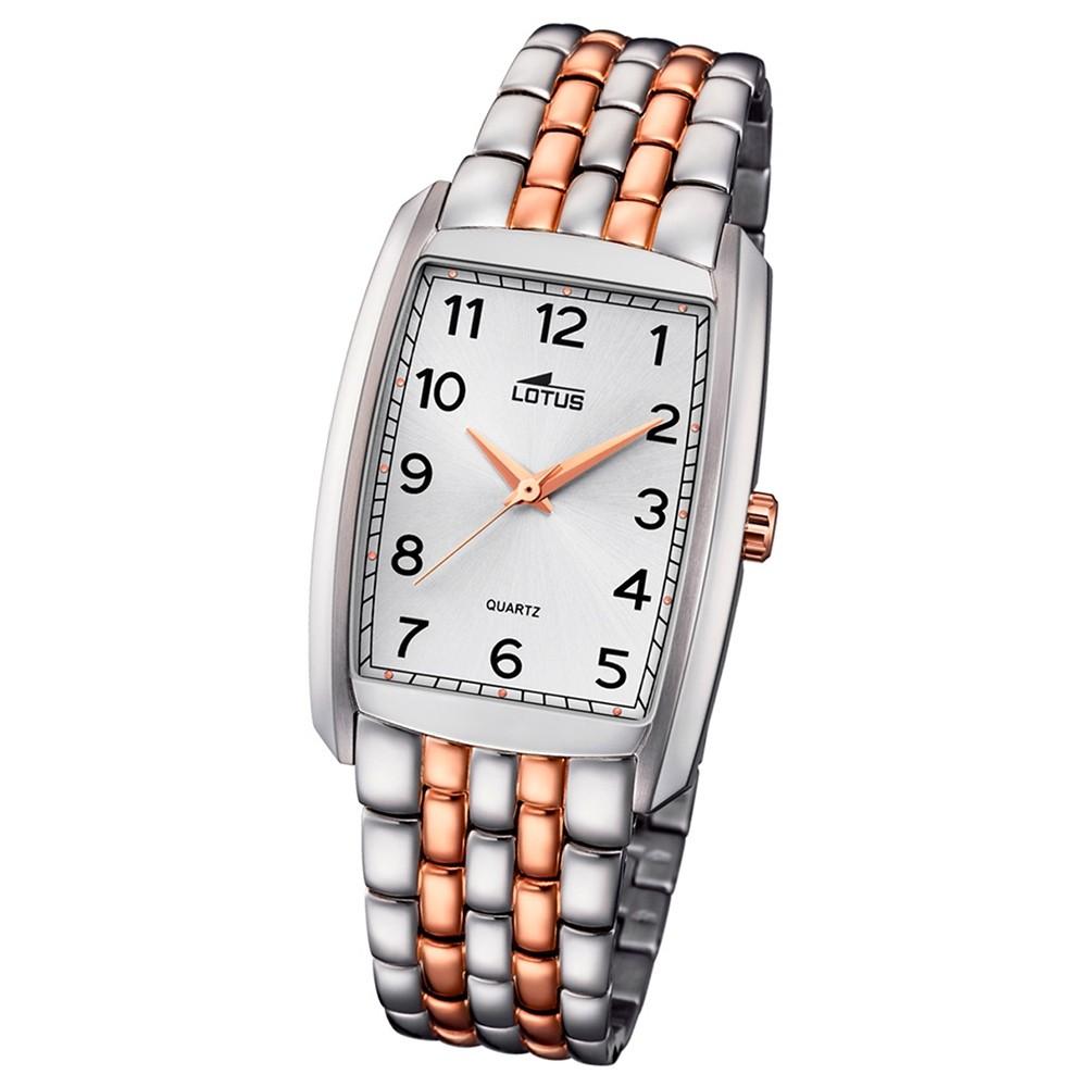 LOTUS Herren-Uhr Stahlband klassisch Analog Quarz Edelstahl kupfer UL18354/1