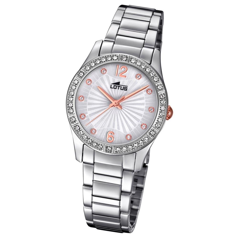 Lotus Damen-Armbanduhr Edelstahl silber 18383/1 Quarz Grace UL18383/1