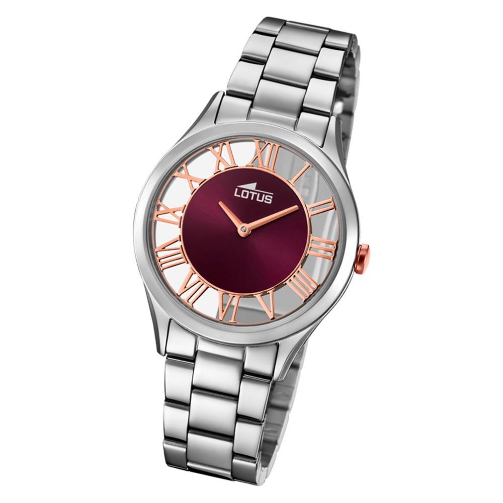Lotus Damen-Armbanduhr Edelstahl silber 18395/5 Quarz Trendy UL18395/5