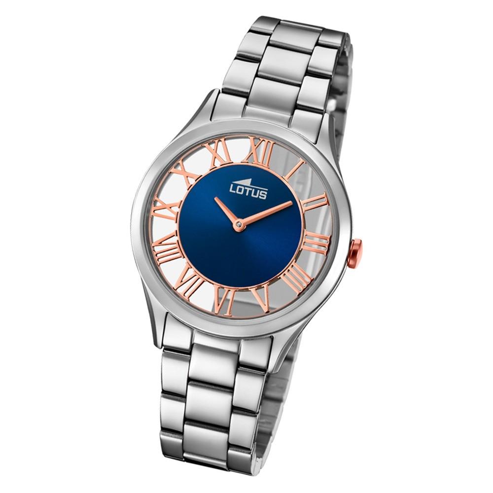 Lotus Damen-Armbanduhr Edelstahl silber 18395/6 Quarz Trendy UL18395/6