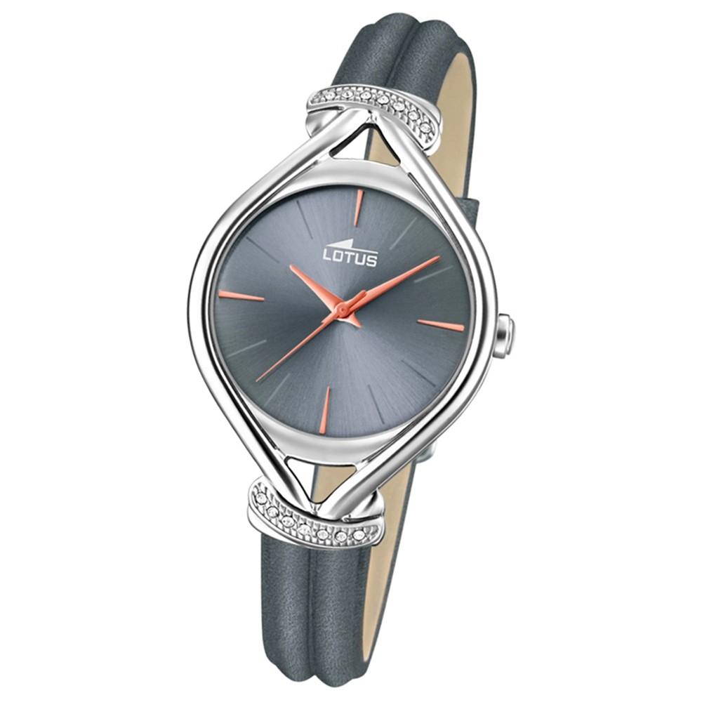 Lotus Damen-Armbanduhr Leder grau 18399/2 Quarz Grace UL18399/2