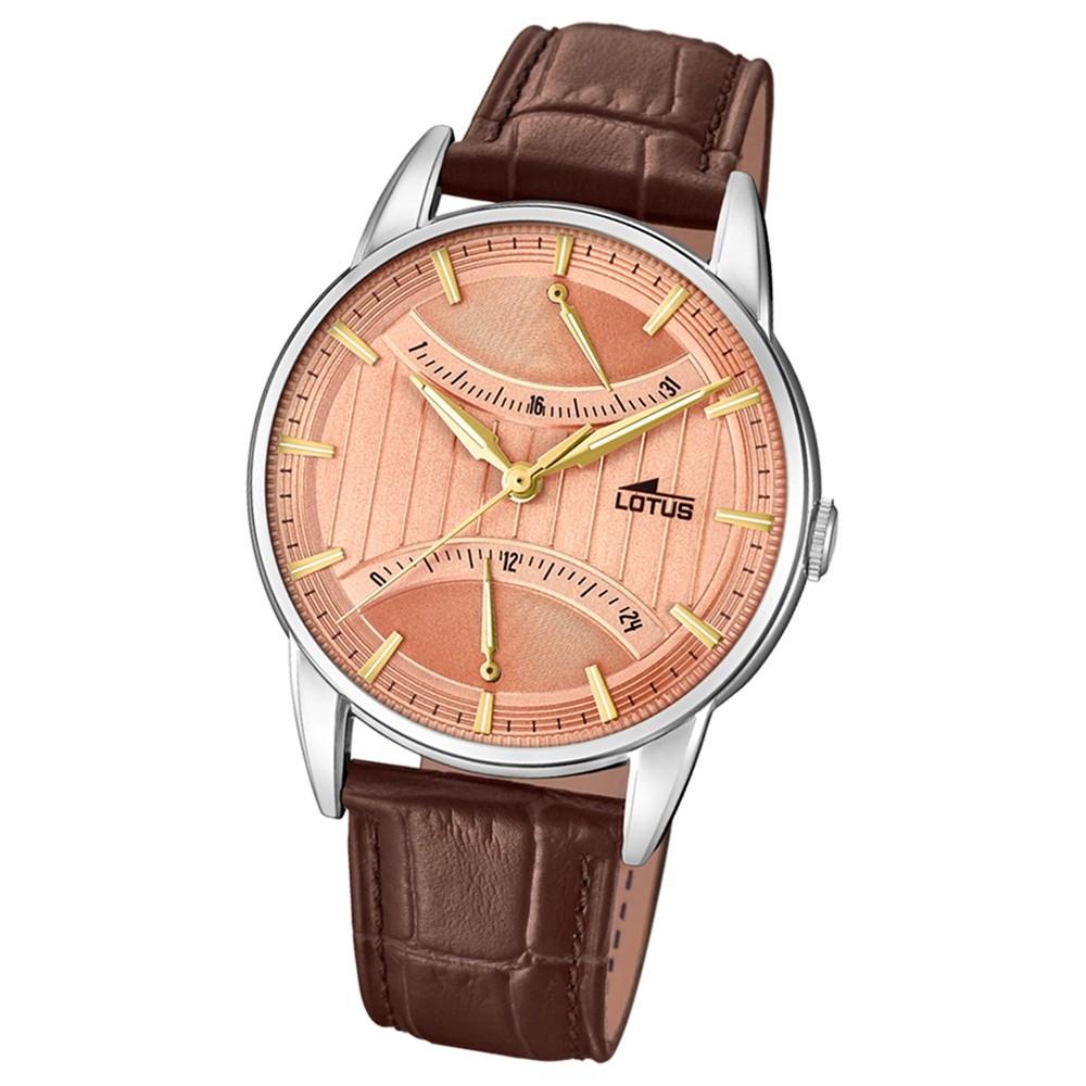 Lotus Herren-Armbanduhr Leder braun 18429/2 Quarz Retro UL18429/2