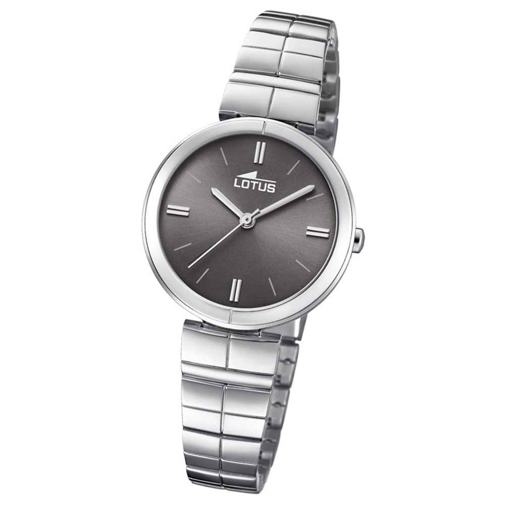 Lotus Damen-Armbanduhr Edelstahl silber 18431/2 Quarz Trendy UL18431/2