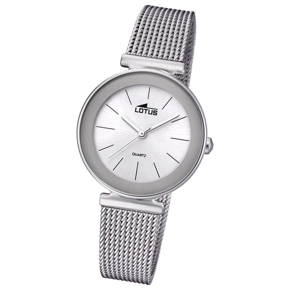 Lotus Damen-Armbanduhr Edelstahl silber 18434/1 Quarz Trendy UL18434/1