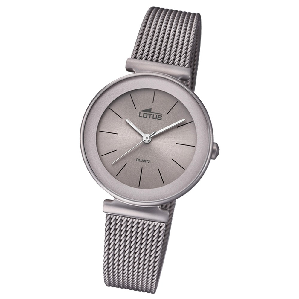 Lotus Damen-Armbanduhr Edelstahl grau 18435/2 Quarz Trendy UL18435/2