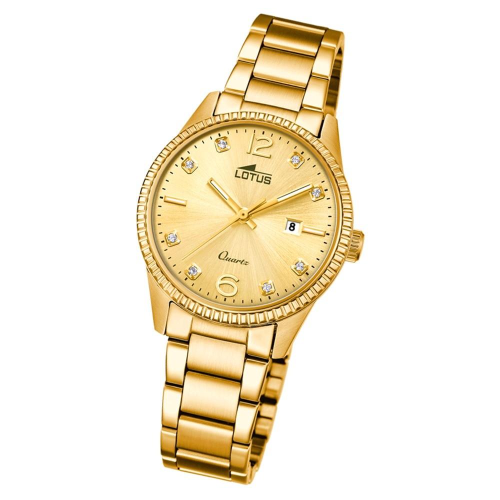 Lotus Damen-Armbanduhr Edelstahl gold 18464/2 Quarz Minimalist UL18464/2