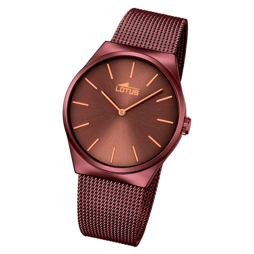 Lotus Herren Damen-Armbanduhr Edelstahl braun 18480/1 Quarz UL18480/1