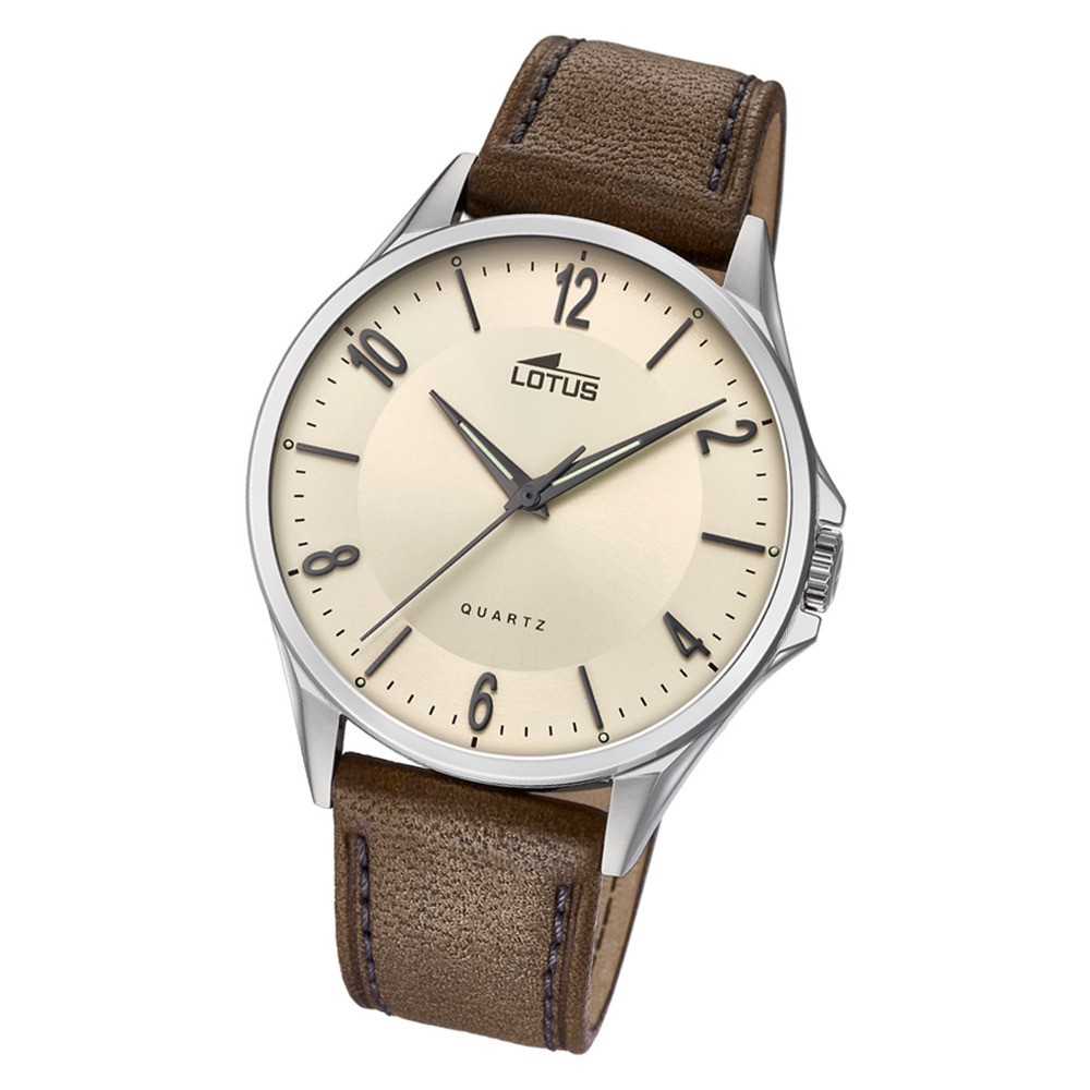 Lotus Herren-Armbanduhr Leder braun 18518/1 Quarz klassisch UL18518/1