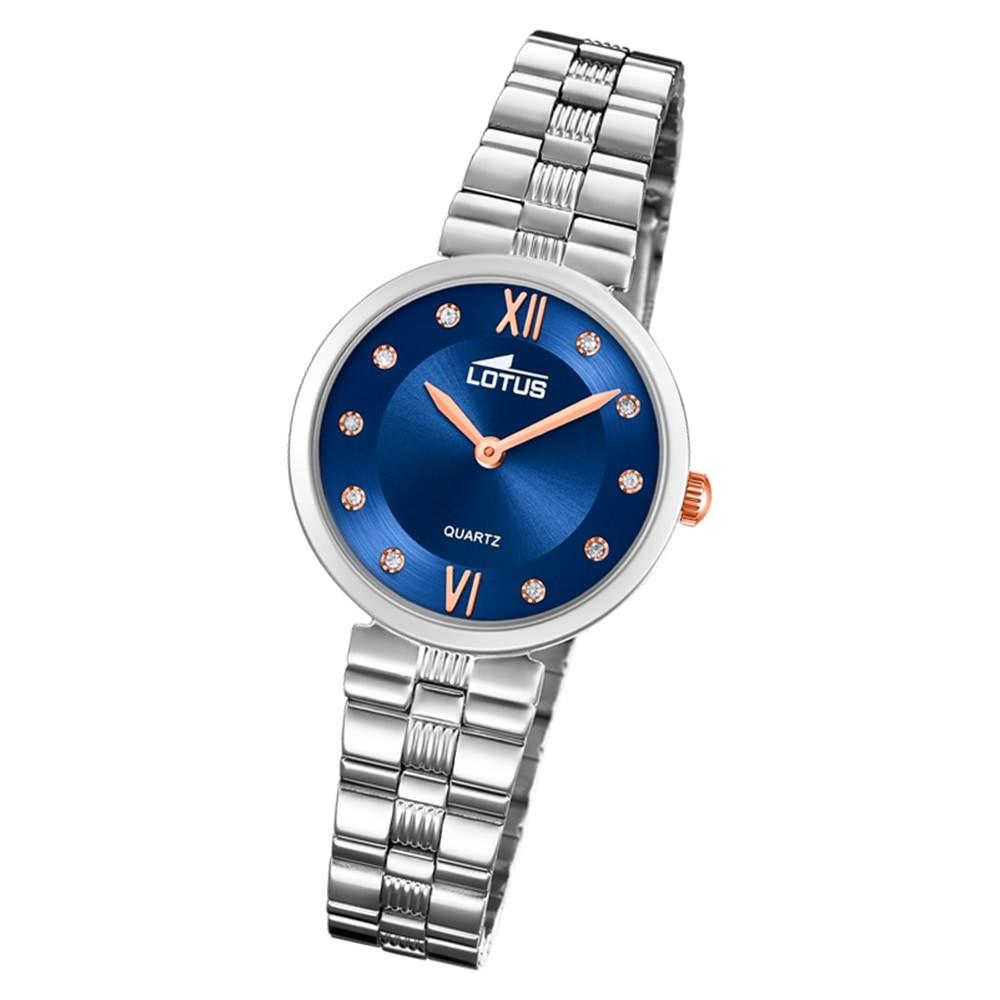 LOTUS Herren Damen Armbanduhr Junior 15832/5 Leder schwarz blau UL15832/5 UL1854 UL18541/4