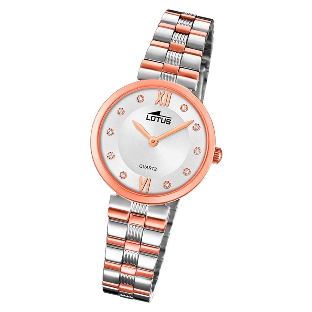 LOTUS Damen Armbanduhr Bliss 18542/4 Quarz Edelstahl silber rosegold UL18542/4
