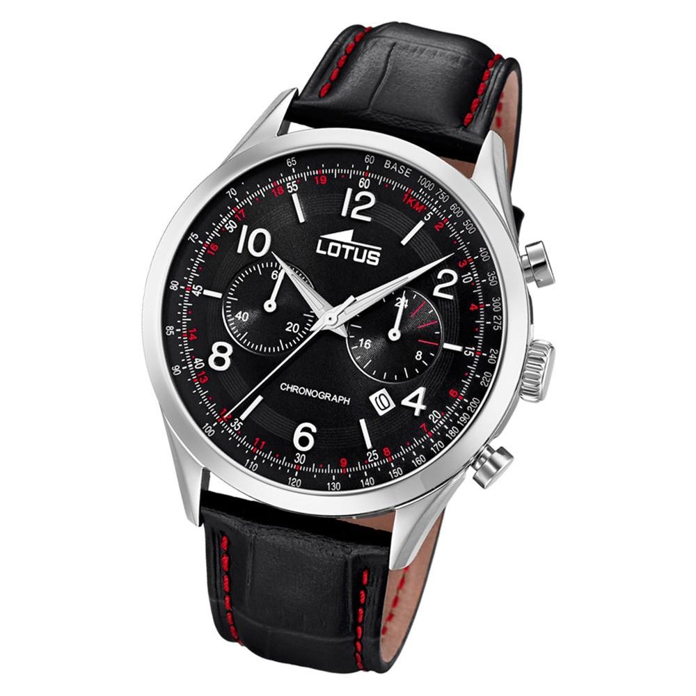 Lotus Herren-Armbanduhr Leder schwarz 18557/4 Quarz Smart Casual UL18557/4