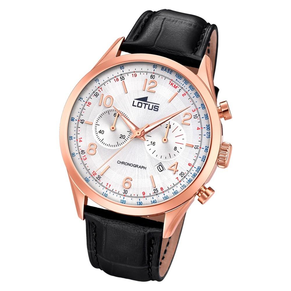 Lotus Herren-Armbanduhr Leder schwarz 18558/2 Quarz Smart Casual UL18558/2
