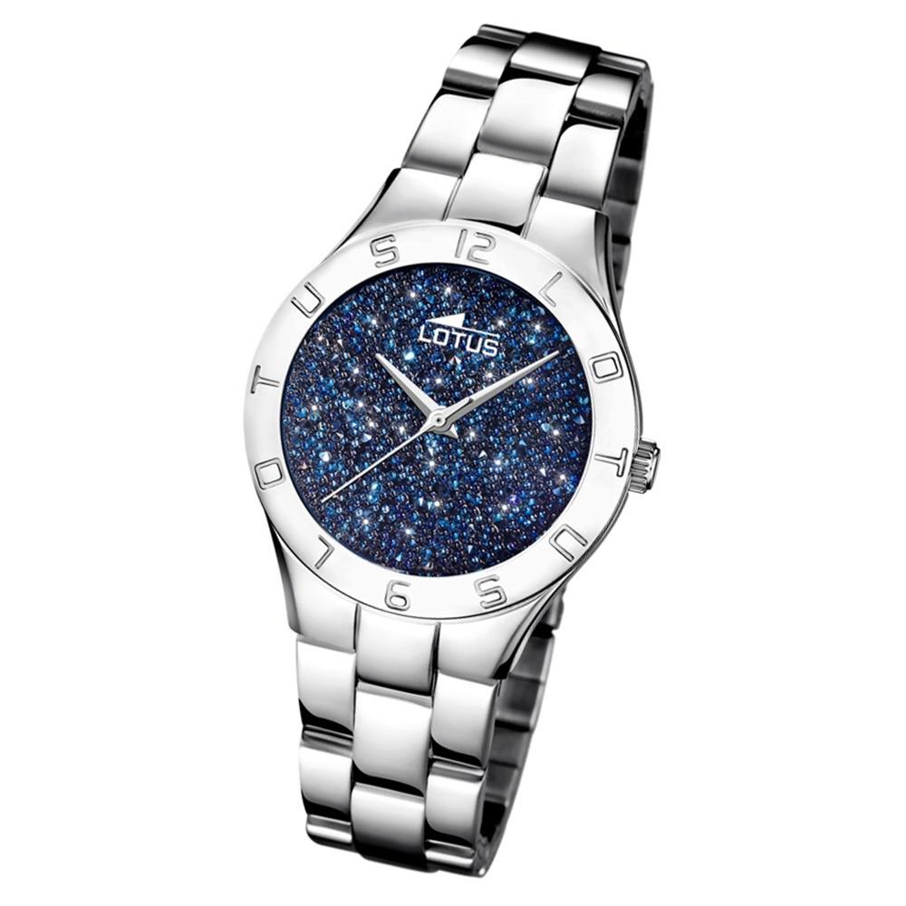 Lotus Damen-Uhr Quarz SWAROVSKI Elements18568/2 Edelstahl silber UL18568/2