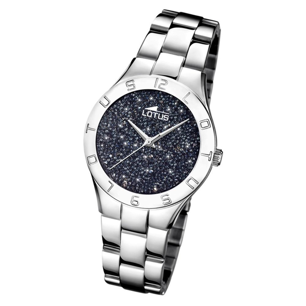 Lotus Damen-Uhr Quarz SWAROVSKI Elements18568/4 Edelstahl silber UL18568/4