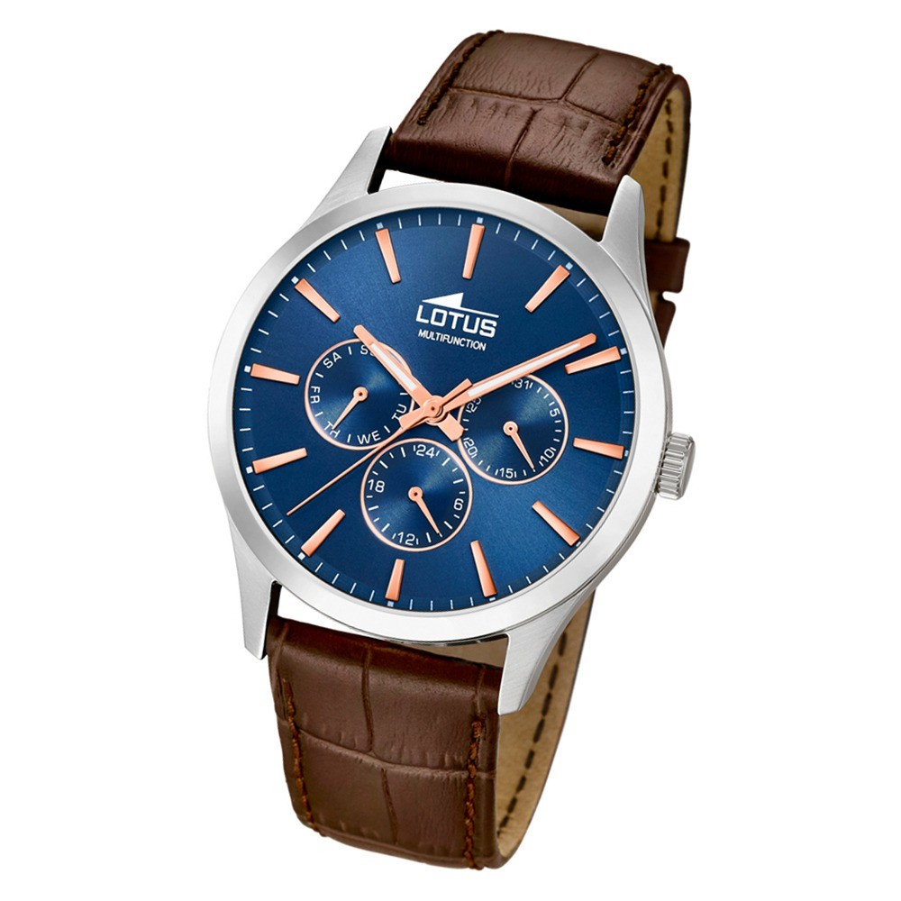 Lotus Herren-Armbanduhr Leder braun 18576/5 Quarz Minimalist UL18576/5