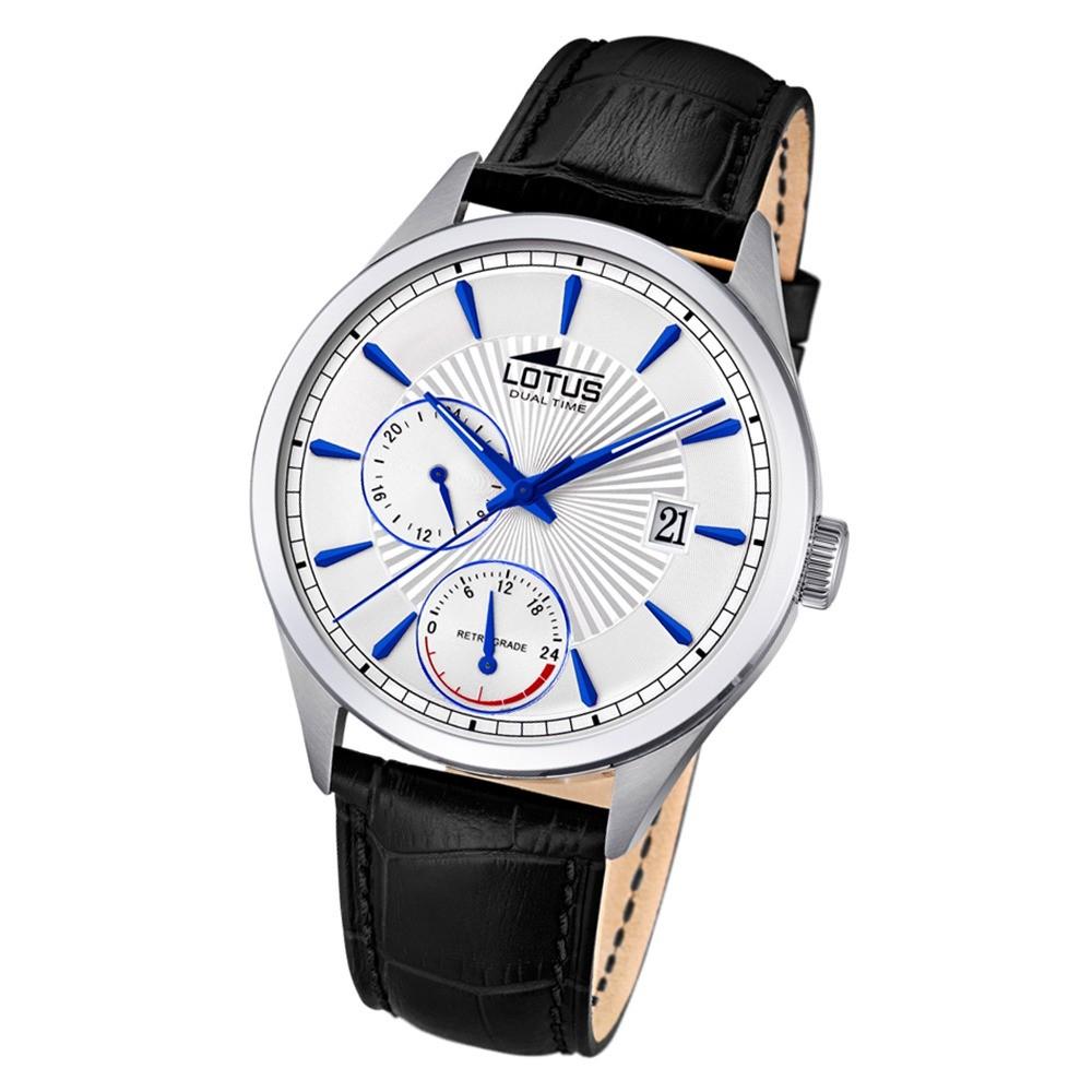 Lotus Herren-Armbanduhr Leder schwarz 18577/2 Quarz Classic UL18577/2