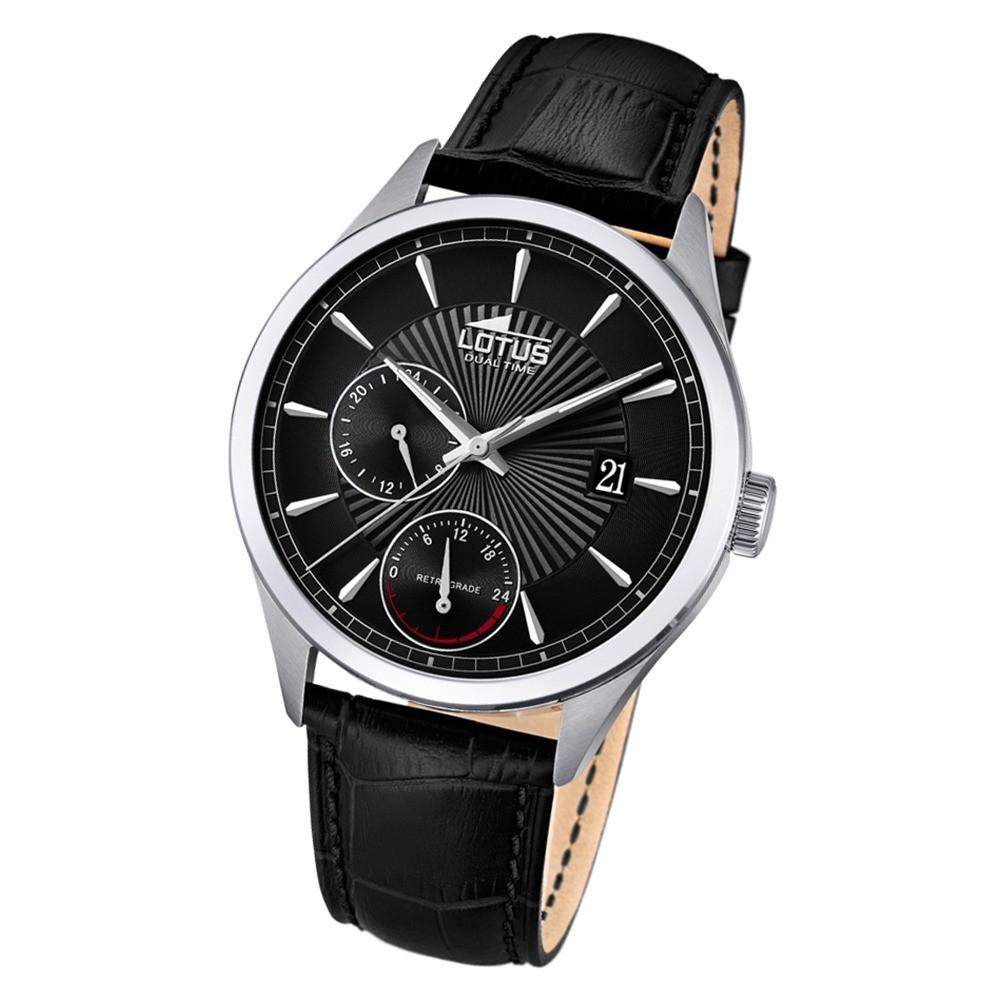 Lotus Herren-Armbanduhr Leder schwarz 18577/4 Quarz Classic UL18577/4